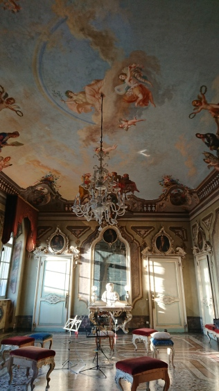The Ballroom ceiling